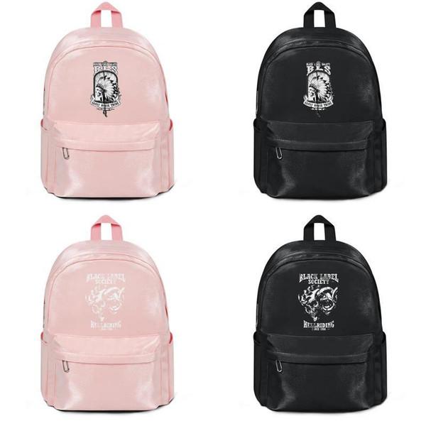 Black Label Society Men's Crazy Horse 2011 Tour 2019 summer new arrival Fashion Print school bag unisex backpack student female travel &