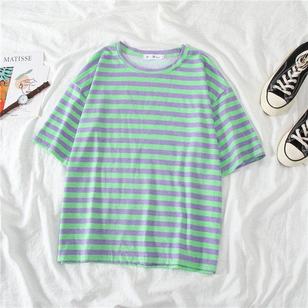 listras brancas e verdes