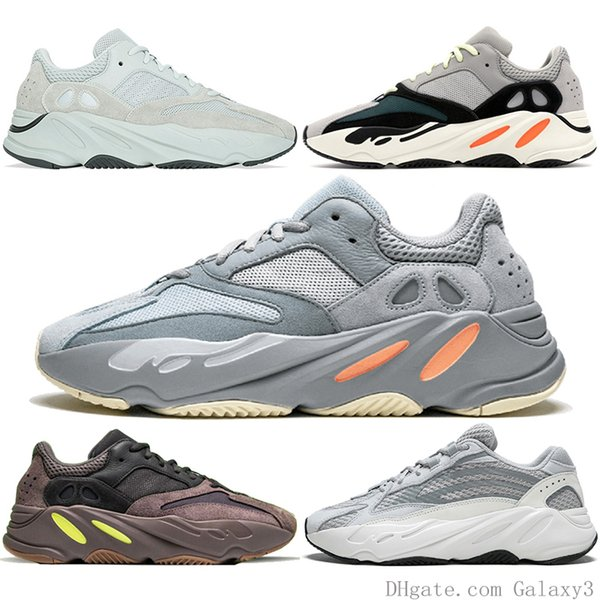 Wholesal High Quality Mens Shoes 700 Wave Runner Geode Women Running Shoes Mauve Salt 700 V2 Static Kanye West Designer Shoes Sneakers