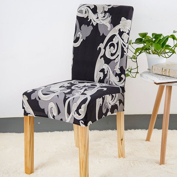 Astonishing 1 2 4 Chair Covers Elastic Kitchen Seat Protector Case Removable Chair Covers For Wedding Party Home Decor Housse De Chaise Tablecloth And Chair Cover Caraccident5 Cool Chair Designs And Ideas Caraccident5Info