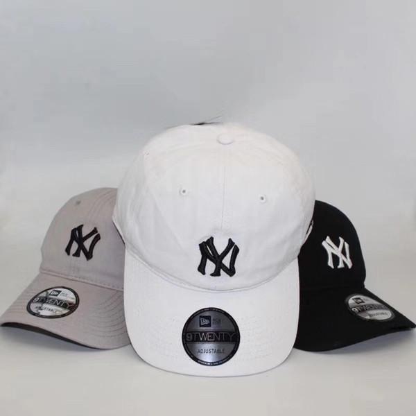 Nueva gorra de béisbol NY Japanese wash denim cap hombres y mujeres primavera y verano ocio joker sunshade suntan hat 3 colores