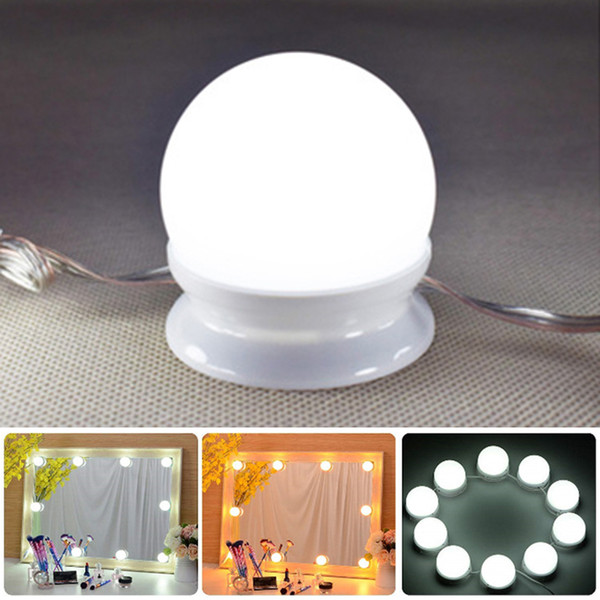 Ensemble de lumières de miroir de style vanité LED de style hollywoodien avec ampoules à intensité variable, bande d'éclairage pour la table de maquillage faite main dans le vestiaire