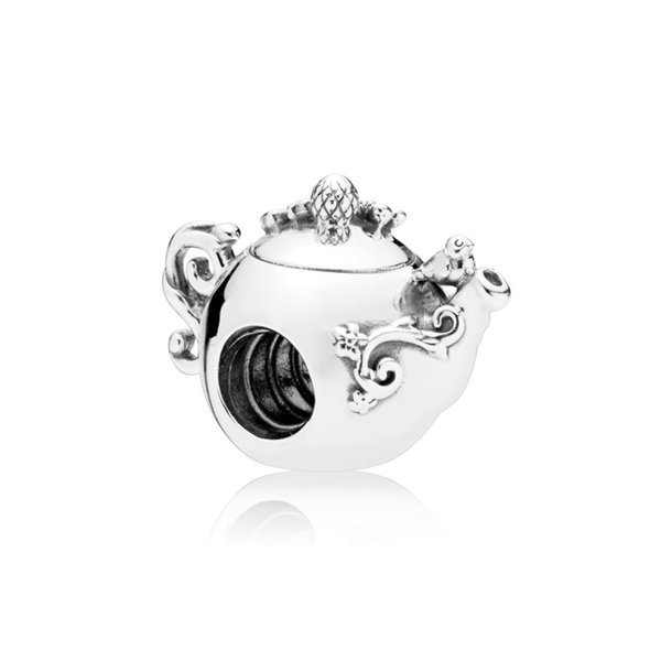 NEW 100% 925 Sterling Silver 1:1 Authentic 797065CZ ENCHANTED TEA POT CHARM Bracelet Original Women Jewelry Gift