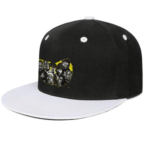 Casual Baseball Wu Tang Clan logo rap members Mesh hat High Bun
