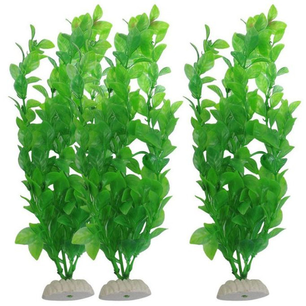 3-Piece 10.6 polegadas verde aquário aquário tanque de peixes plantas decorativas placas artificiais ferramenta do partido acessórios de decoração para casa