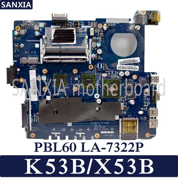 KEFU PBL60 LA-7322P REV: 1A Placa base para laptop ASUS X53B K53B X53 K53 Prueba la placa base original con tarjeta de video