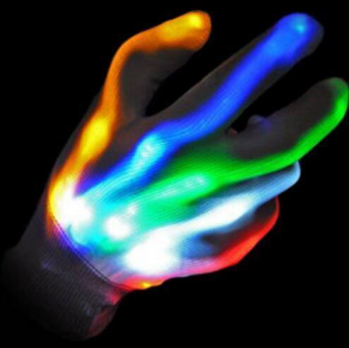 LED Gloves Color Changing Flashing Led Glove for KTV Party Finger Flashing Glow Flashing Fingertip Light LED Gloves Magic Gloves