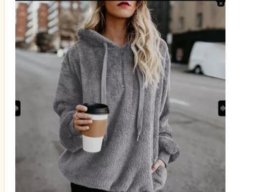 Pullovers Fashion Women Thicken Hoodie Outfit Autumn Winter Women Casual Pullover 2018 Solid Color Warm Fleece Hooded Plus Size for Female S