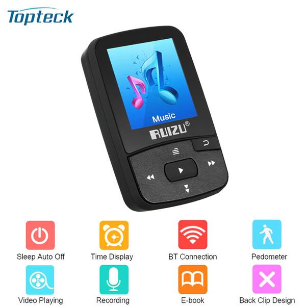 Nuova clip da 8GB RUIZU X50 Sport per lettore MP3 Bluetooth Mini con supporto per schermo FM