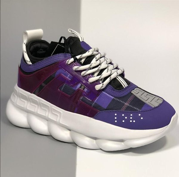 2019 Mode toq haute réaction de chaîne baskets designermens sandales chaîne réaction de marque baskets pas cher chine en gros chaussures à vendre 35-45