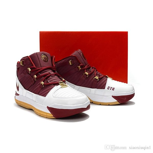 5be1da0ff34a Mens Lebron 3 basketball shoes for sale retro MVP Christmas BHM Oreo youth  kids boys 16