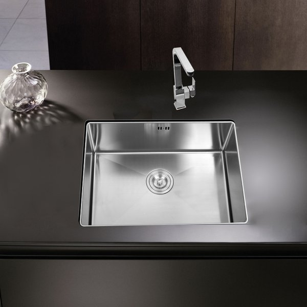 best selling kitchen sink undermount Handmade brushed seamless 304 stainless steel single bowl Drawing drainer welding sinks big wash dishes