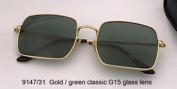 الذهب / الأخضر الكلاسيكية عدسة الزجاج G15