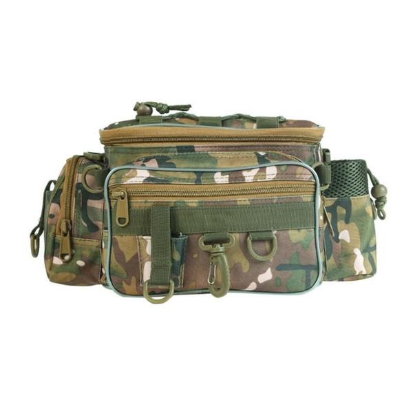 Multi-functional Fishing Bag Outdoor Fishing Tackle Reel Lure Storage Case Camping Waist Shoulder Bag pesca acesorios #266279