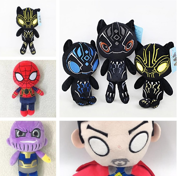 Новый 25 см Мстители 3 Бесконечность Черная Пантера фигурку игрушки мягкие плюшевые куклы дети дети подарки 6 стилей новинки 4813