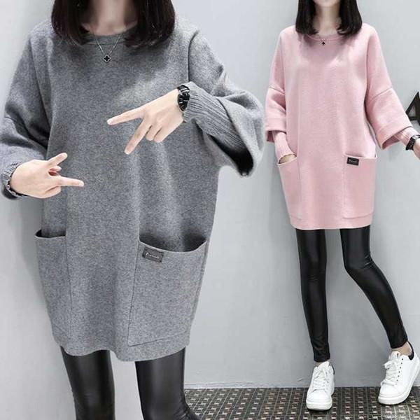 Cool Spring Winter 2019 Long Hoodie Sweatshirt Women Casual Long Sleeve Sweatshirt Hoody O-neck Pullover Ladies Sweatshirts Coat