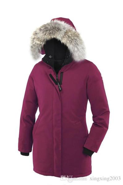 Виктория пуховик 2018 года Канада Brand New Женские ветровки Hoodie Black Navy Серый пиджак пальто зимы / Parka с бесплатной доставкой розеткой