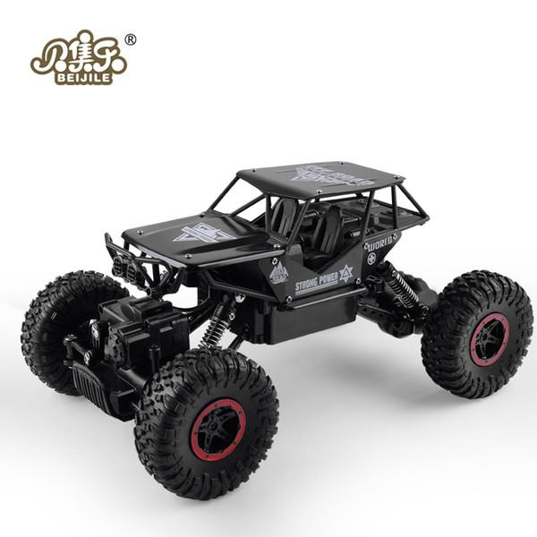 Rc Car 1 :18 4dw 2 .4ghz Metal Rock Crawlers Rally Climbing Car Double Motors Bigfoot Car Remote Control Model Toys For Boys .
