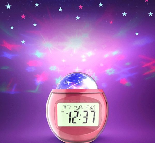 Coversage Night Light Projector Starry Sky Star Master Children Kids Baby Sleep Romantic Led USB Lamp Projection clock with music