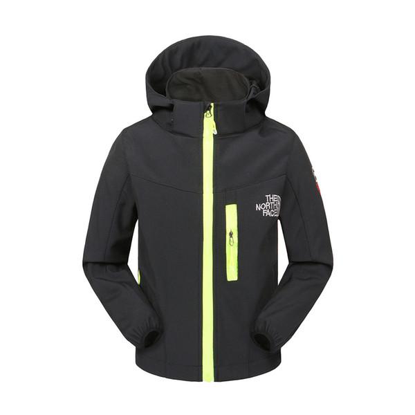 Veste de sport d'automne de NF Kids le Nord Garçons Filles polaire manteau Soft Shell hiver chaud coupe-vent visage manteaux à capuchon en plein air vestes à glissière