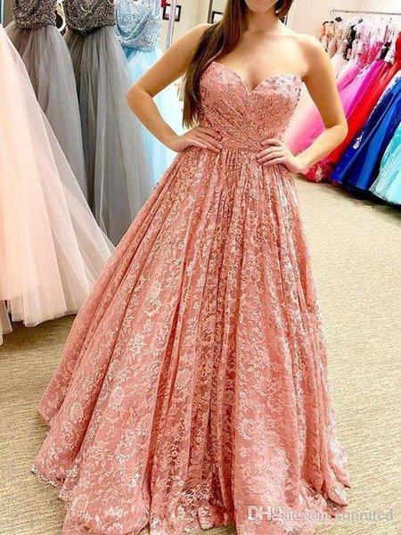 Sexy Strapless Sleeveless Lace Prom Dresses Sweep Train Formal Evening Gowns Long Cheap Cocktail Party Dress Special Occasion Celebrity Gown
