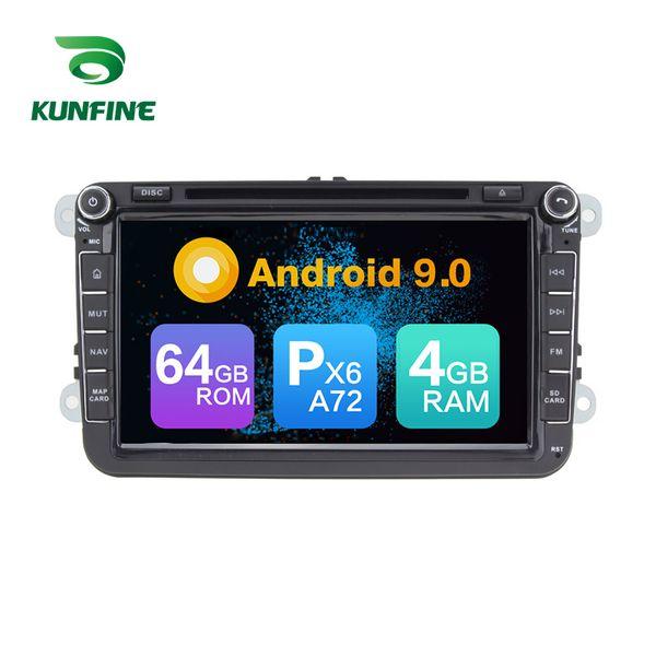 Android 9.0 Núcleo PX6 A72 Ram 4G Rom 64G Carro DVD GPS Multimídia Jogador Car Stereo Para VW Golf 6 / Polo / Passat B6 / Passat CC / Jetta Rádio Headunit