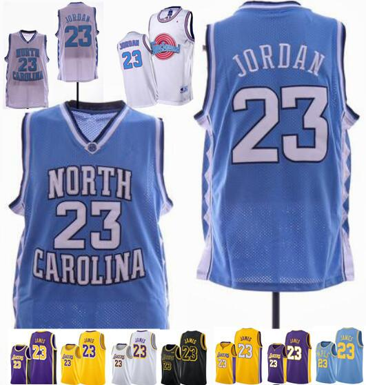 NCAA 23 Michael North Carolina Tar Heels Jersey James Bryant Kuzma Ball Ingram jerse 24 كوبي 23 ليبرون كرة السلة للرجال بالقميص مخيط