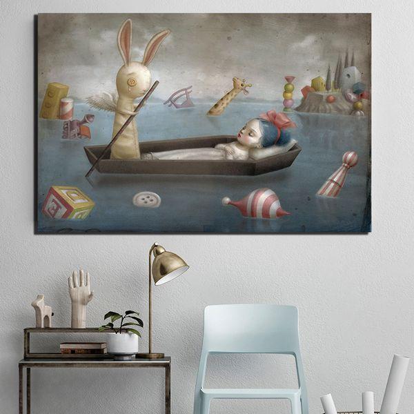 Compre Daydreams Por Nicoletta Ceccoli Pintura Sobre Lienzo Arte De La Pintada Cuadro De La Pared De La Sala De Estar La Impresión Del Cartel Para La