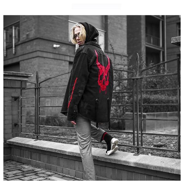 Mens Designer vestes pour hommes Marque Manteaux Skulls Imprimer Cowboy Cardigans Loisirs Street Style Hauts pour hommes Automne 2019 Nouvelle Arrivée