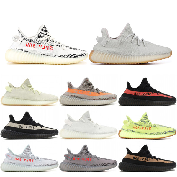 lowest price 3b789 64994 2019 2019 Top 350 V2 Butter Zebra Beluga 2.0 Black Copper Bred Men Women  Running Shoes Kanye West Designer Sport Sneakers With Box From Journeys, ...
