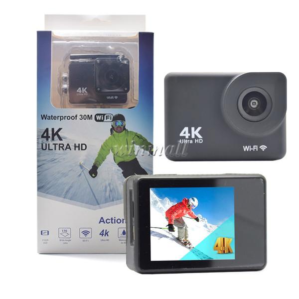 4K Action Camera 2 inch LCD Screen Wifi 30M Waterproof 1080P DVR H9R F60 Helmet Sports DV Camera