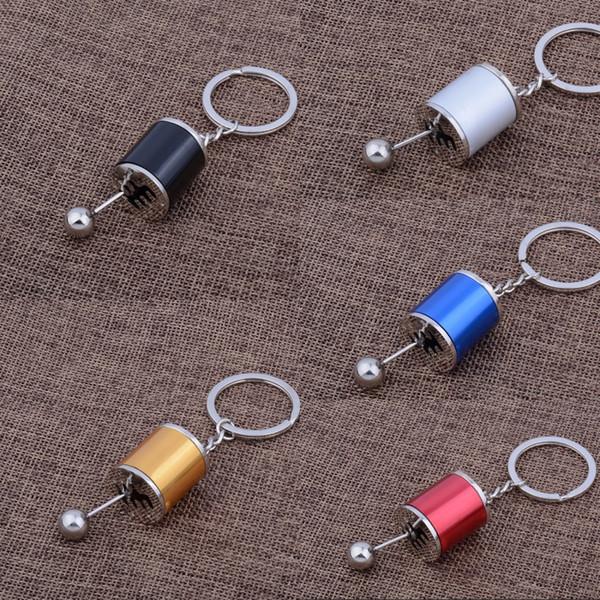 5 Colors Fashion Key Chain Creative Keyfob Car Modification Gear Box Shifter Keychain Metal Fidget Keyrings Women Men Gift Free DHL M170F