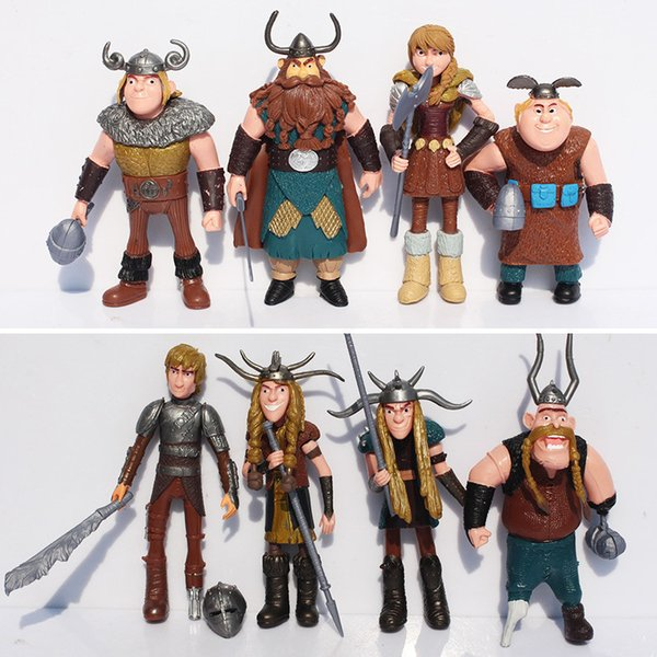 8pcs/set 10-13cm How To Train Your Dragon 2 Figurines Pvc Action Figures Classic Toys Kids Gift For Boys Girls Children C19041501