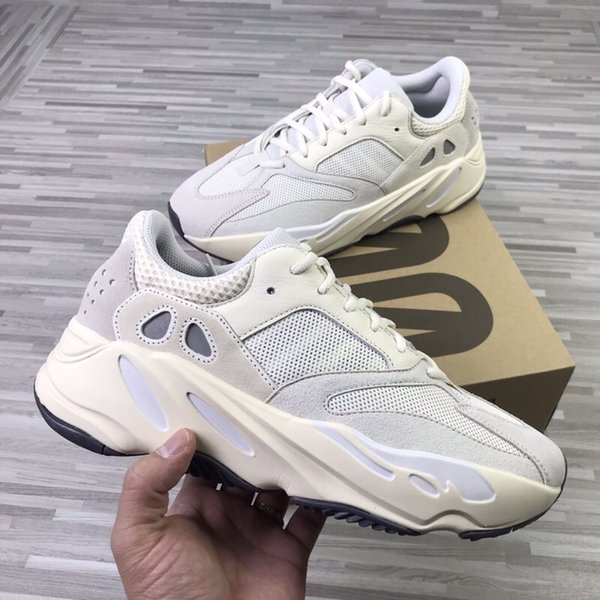 Оптовые продажи Static 700 Wave Runner Salt Black Inertia Mauve Мужские женские кроссовки Дизайнерская обувь 700 Kanye West Спортивные кроссовки 36-45
