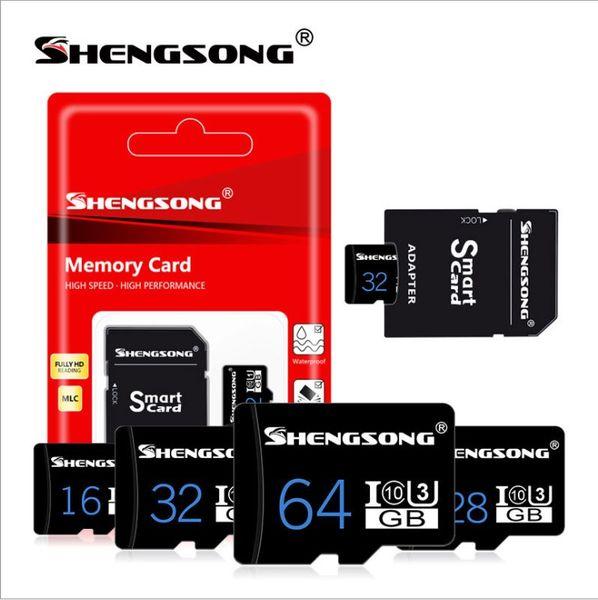 High Speed TF Memory Card 128GB 64GB 32GB 16GB C10 Flash SD Card 8 16 32 64 128 GB cartao de memoria For Smartphone Camera with retail packa