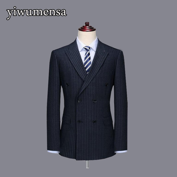 Y524 slim fit stripe wedding suits for man Custom made 3 pieces (Jacket+vest+pants) tuxedo blazer costume homme mariage 2018 #540508