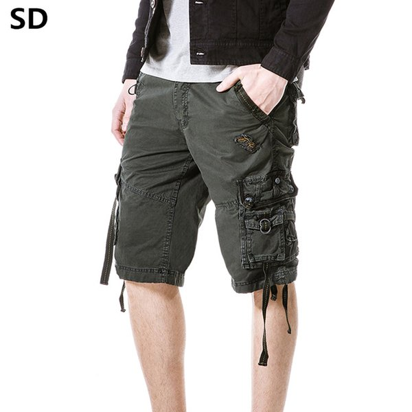 SD Summer Brand Clothing Army Work Shorts Multi-Pocket Cotton Men's cargo shorts 2019 Style Trousers Dropshipping 32