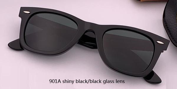 50mm 901A glänzende schwarze / schwarze Linse