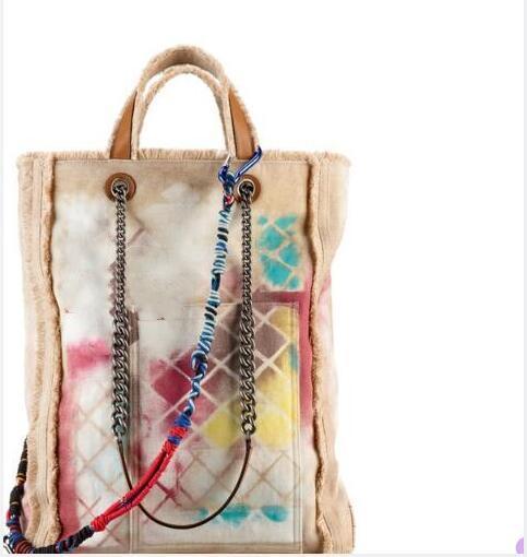 Nuovi Borse di tela Moda Borse per donna Shopping tela Graffiti Borsa a mano stampata ricamata con borse a tracolla di tela multicolore