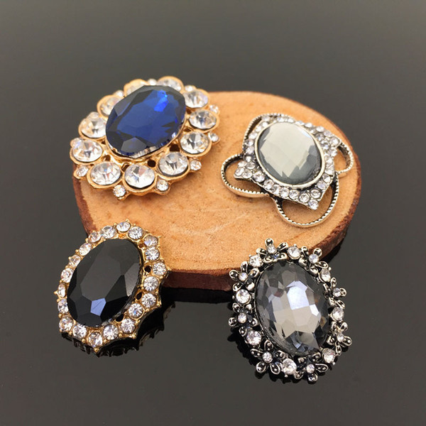 Meetee Rhinestone Buttons Alloy Decor Buckle DIY Handmade Headwear Jewelry Bag Clothing Sewing Craft Accessories BD566