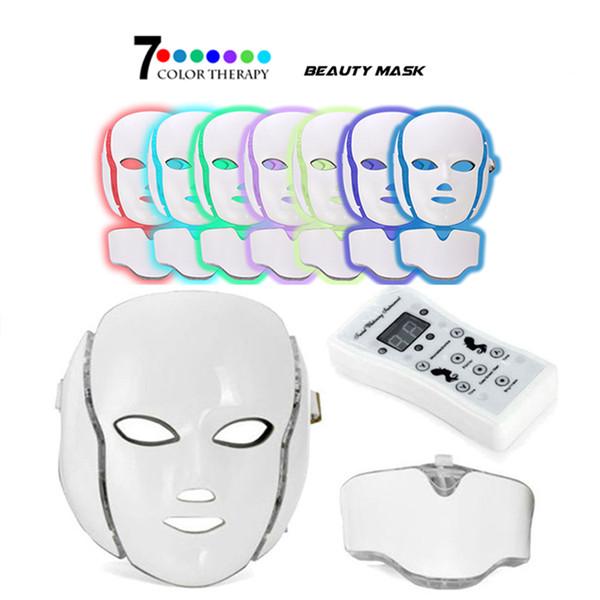 Masque facial professionnel de photon de la couleur LED 7 lumière efficace thérapeutique de traitement de beauté de rajeunissement de peau d'anti-vieillissement pour l'instrument de beauté d'utilisation de maison