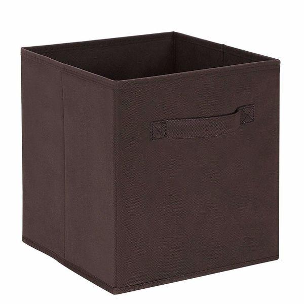 new Cube Non-woven Fabric Folding Storage Bins for books Underwear Bra Socks clothes Organizer toys Storage box Large Baskets
