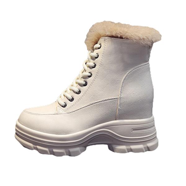 Moda Martin botları bayan İngiliz tarzı 2019 yeni yakışıklı vahşi net kırmızı sonbahar deri pamuk ayakkabı kısa botlar kış artı kadife