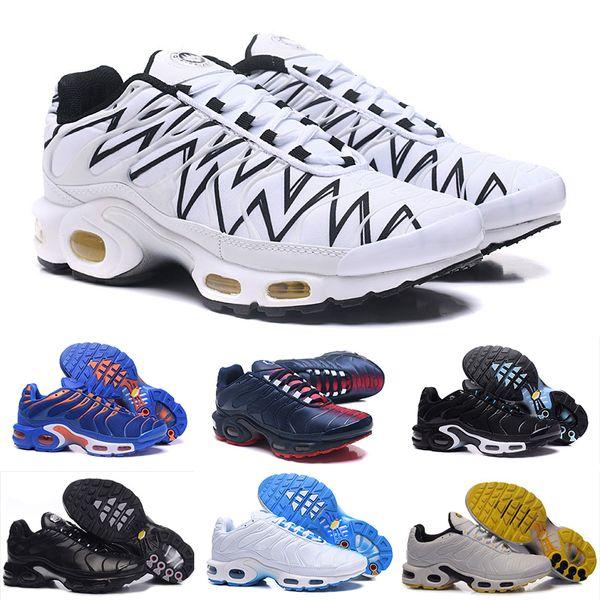 Nike Air TN Plus 2018 Nouveau Design Top Qualité TN Hommes Chaussures de Sport Respirant Maille Chaussures Homme Tn Requête Noir Casual ShOes