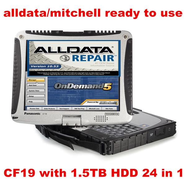 Toughbook CF19 CF-19 Ноутбук 1,5 ТБ HDD WIN7 система 24in1 Авторемонт Alldata Software V10.53 + mitchell по требованию 5 готов к использованию