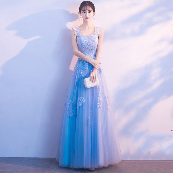 Banquet evening dress skirt 2019 new elegant noble dress celebrity host small skirt short section was thin