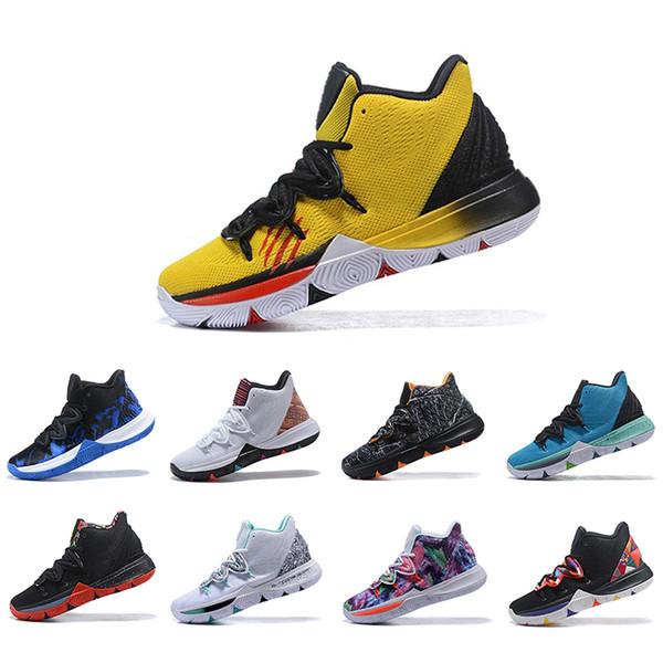 Vendita calda Irving Limited 5 uomini Scarpe da basket 5s Black Magic per Kyrie Chaussures de basket palla Mens Sneakers da ginnastica degli stilisti US 7-12