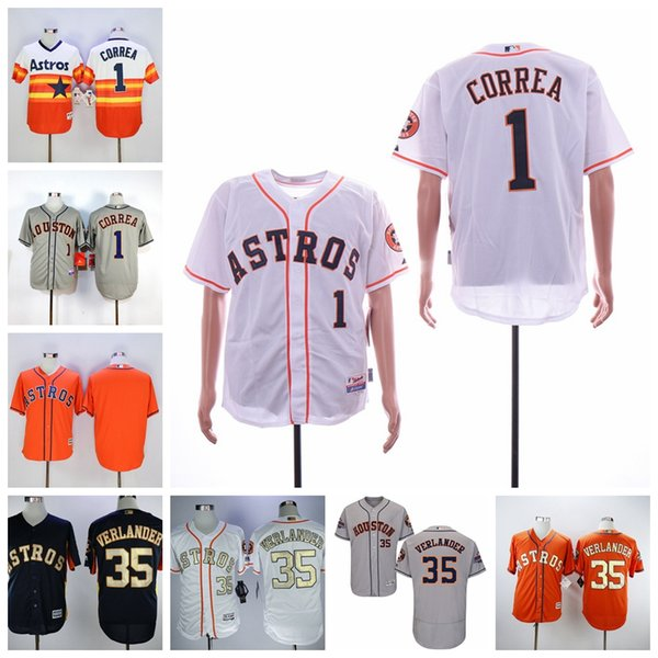 save off 0ee83 95cdd 2019 Men'S Houston Justin Verlander Jersey Astros Carlos Correa White Navy  Orange 2018 Gold Program Cool Flex Baseball Jerseys From Usa_jersey_shop,  ...