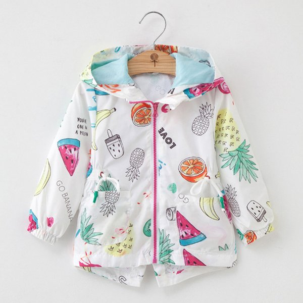 Bebek Kız Rüzgarlık Kızlar Için 2018 Sonbahar Ceketler Trençkot Çocuk Çiçek Giyim Mont Ceket Çocuk Giysileri Için