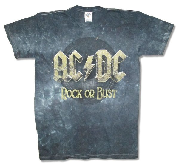 "AC/DC Rock Or Bust World Tour 2016 Blue Tie Dye TALICE IN CHAINS ""TRI CELL"" BLACK T-SHIRT NEW OFFICIAL ADULT Men Women Unisex Fashion tshirt"